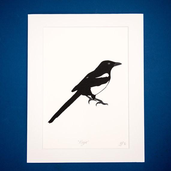 Magpie Screen Print