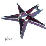 Plum Stained Glass Star Suncatcher