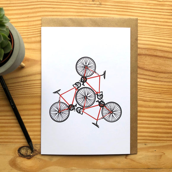 Road Bike Greetings Card A5