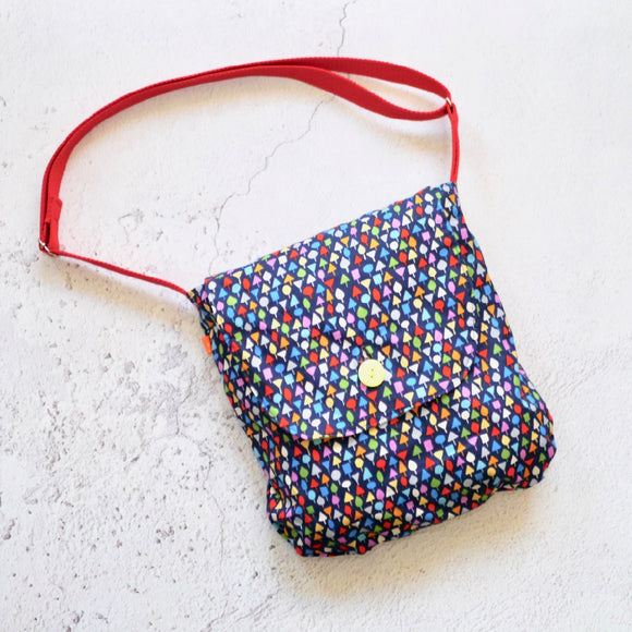 Multicoloured Tiny Trees Reversible Shoulder Bag