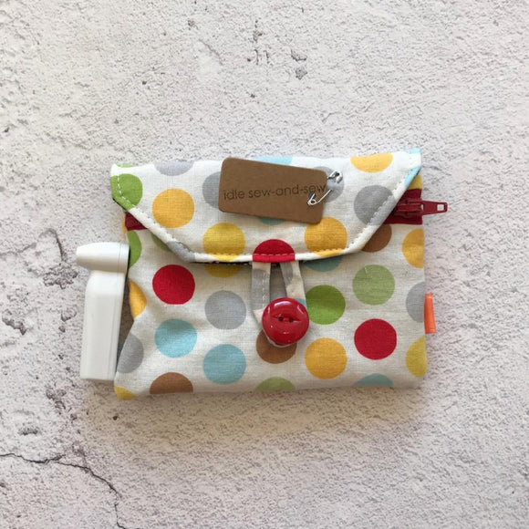 Fabric Purse with Zip Pocket - Dotty