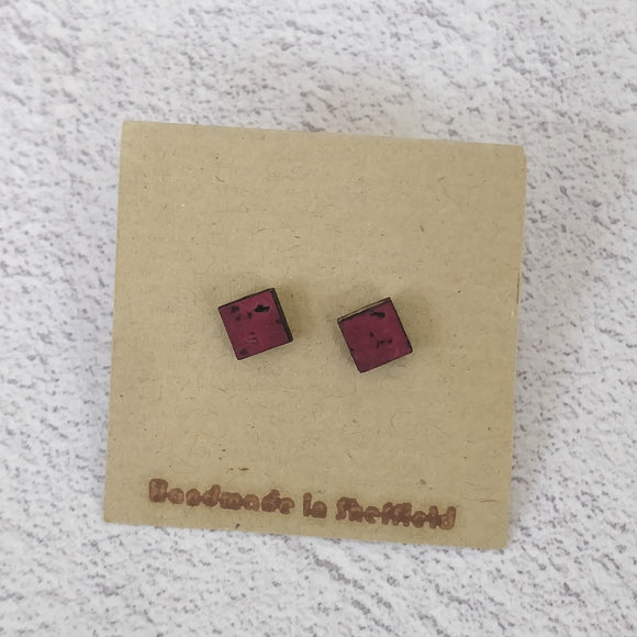 Stud earrings - square