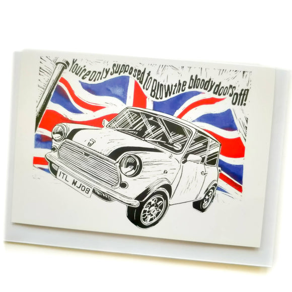 'Mini Cooper' Greetings Card