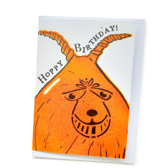 Space Hopper 'Hoppy Birthday' Card