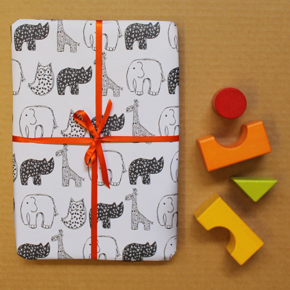 Baby Animals Wrapping Paper Sheet