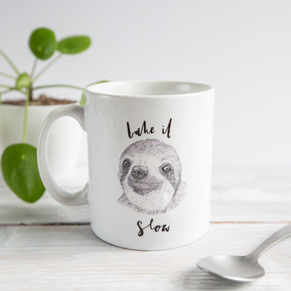 Take it Slow Sloth Mug