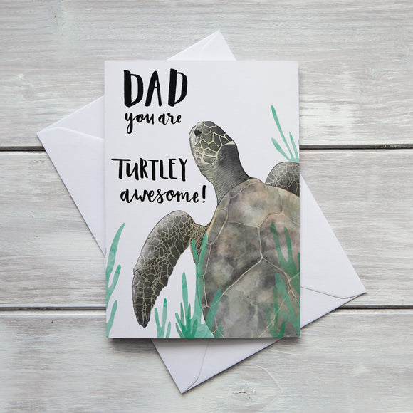 Dad Turtley Awesome Card