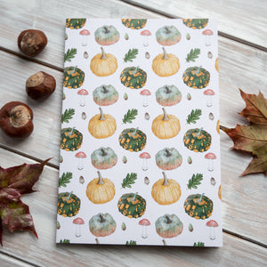 Autumn Plants Patterned Notebook