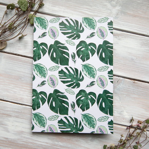 Tropical Leaves Patterned Notebook
