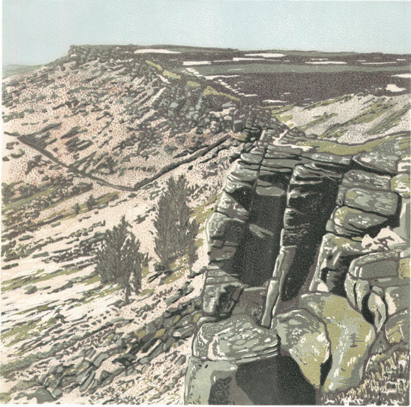 At the Edge , Stanage - Art Print