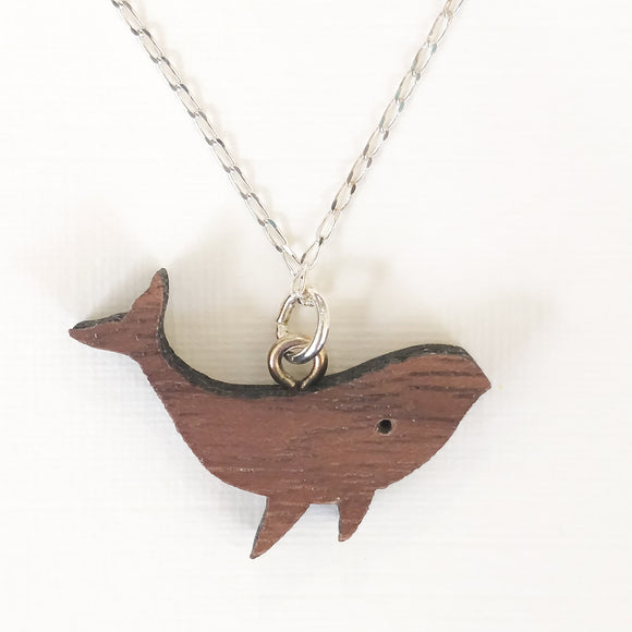 Whale Necklace on Silver Chain