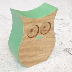 Wooden Standing Owl (Various Colours)