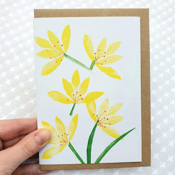 Art card - Yellow spring flowers