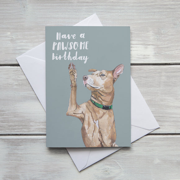 Have a Pawsome Birthday Card
