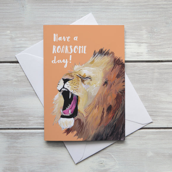 Have a Roarsome Day Birthday Card