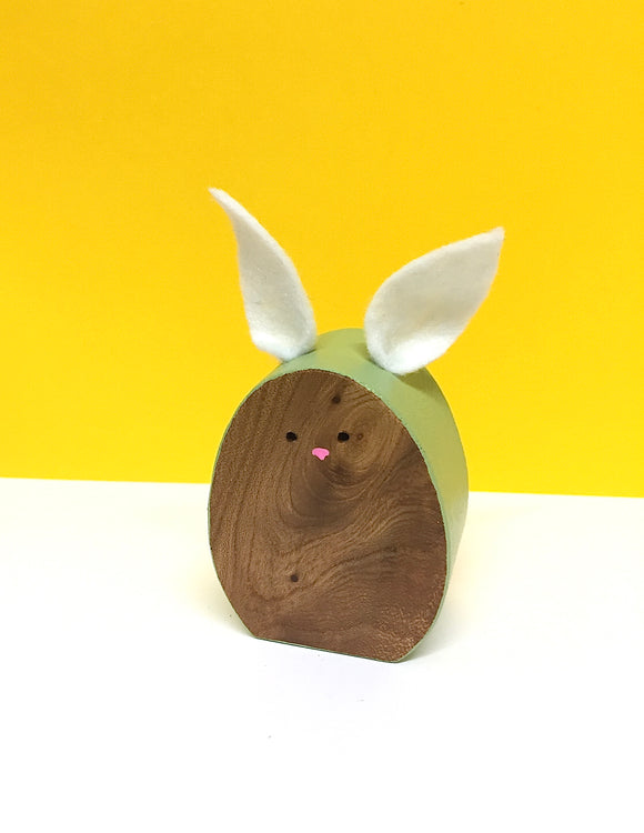 Wooden Bunny ornament