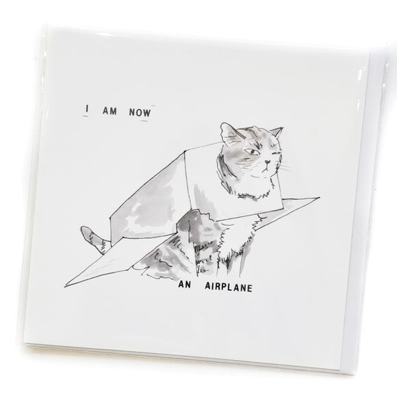 Lolcat card - I am now an Airplane