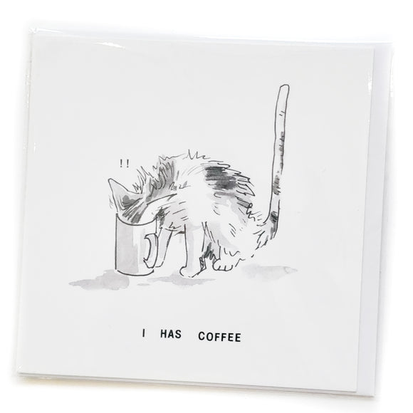 Lolcat card 06 - I Has Coffee