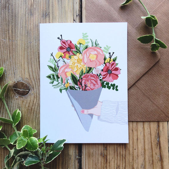 Hand Bouquet Card
