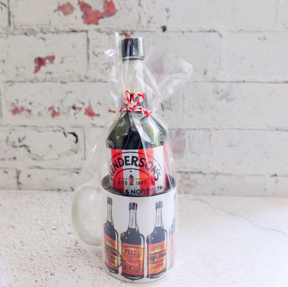 Henderson's Relish Mug with a Blades bottle of Hendos Gift Set
