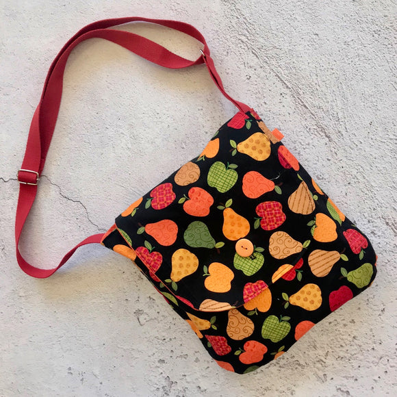 Apples and Pears Reversible Shoulder Bag