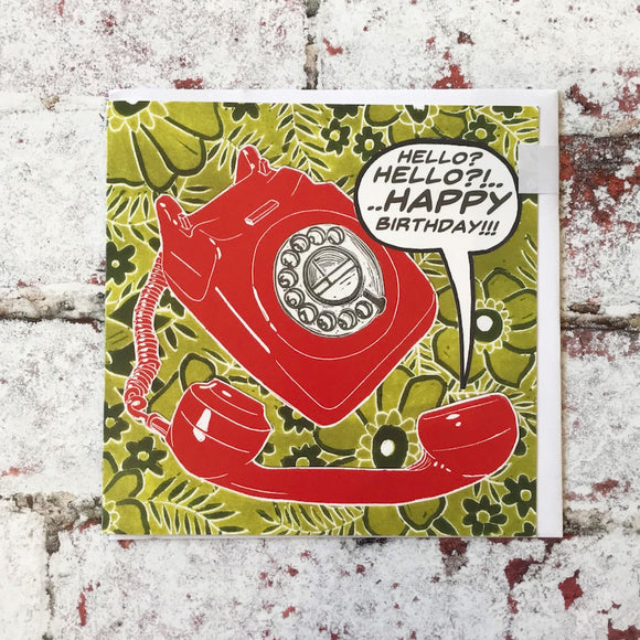 Telephone 'Happy Birthday' Card