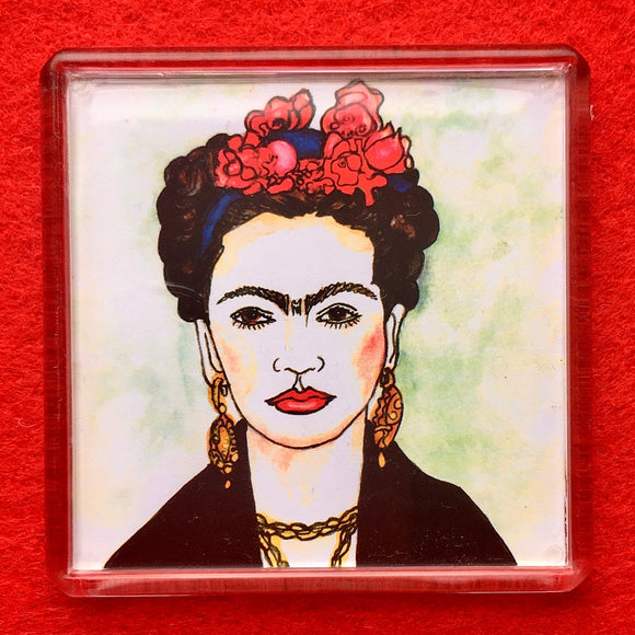 Frida Square Fridge Magnet