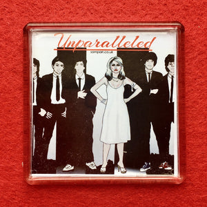 "Blondie ""Unparalleled"" Square Fridge Magnet"