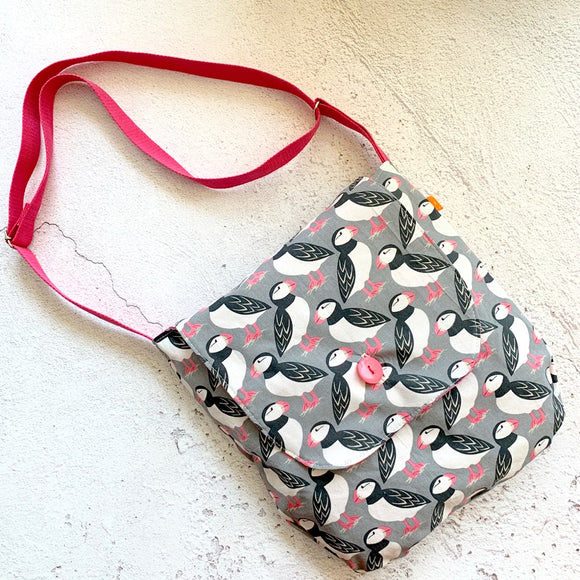 Puffins Reversible Shoulder Bag