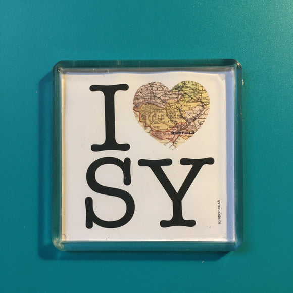 I Heart SY Square Fridge Magnet