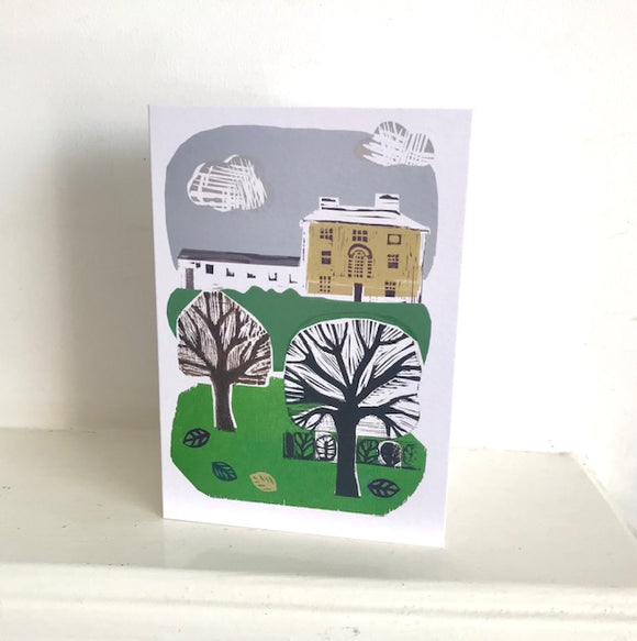 Library in the Park Greeting Card