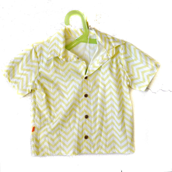Age 4 Shirt - Yellow Chevron