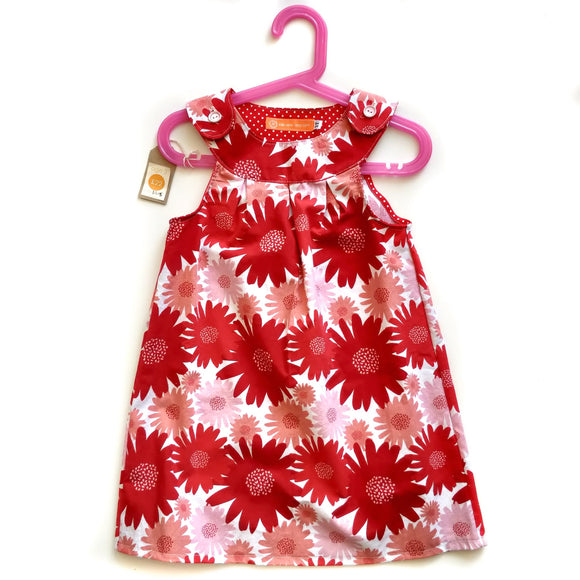 Age 3 Dress - Red Flowers