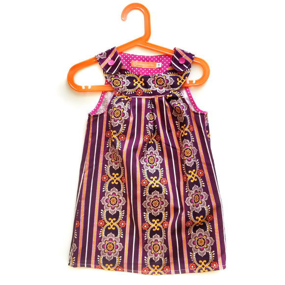Age 1 Dress - Purple Stripes