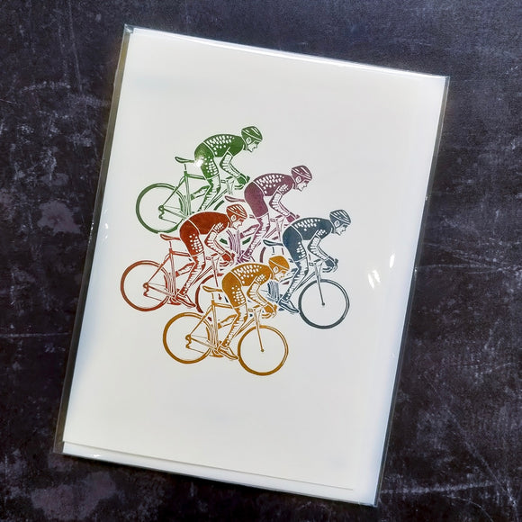 'Peloton' Lino Art Card