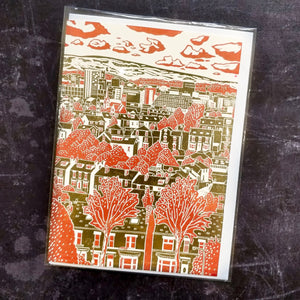 'Sheffield View No. 4 ' Lino Art Card
