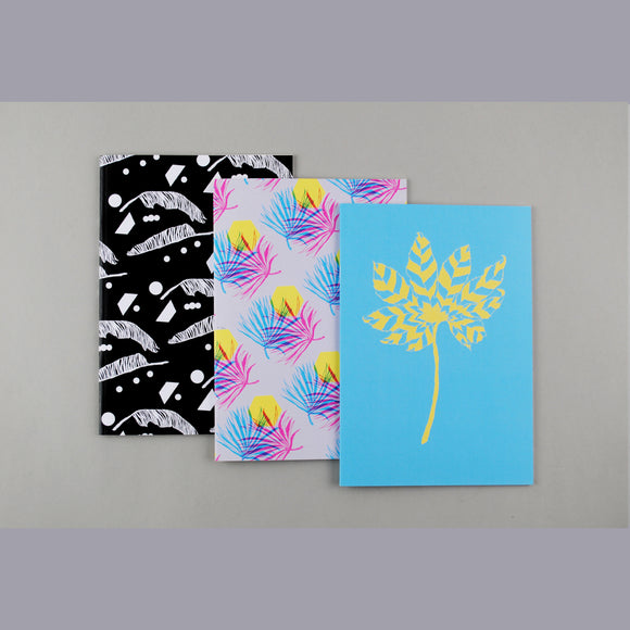 Leafy Set of Three Notebooks