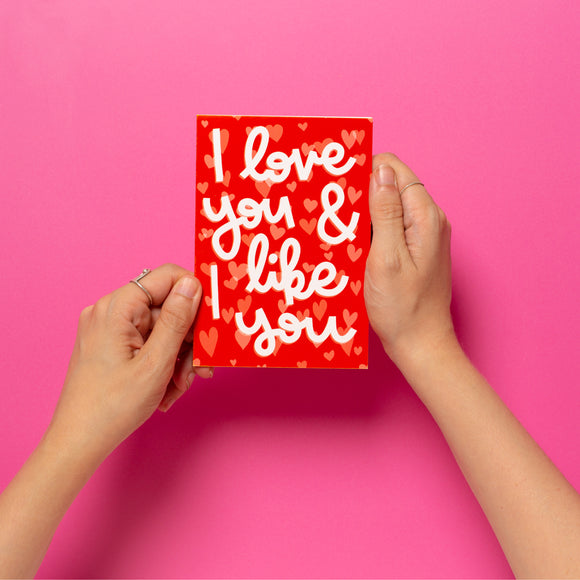 'I Love You & I Like You' Card
