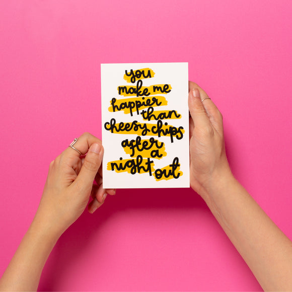 'Cheesy Chips' Card