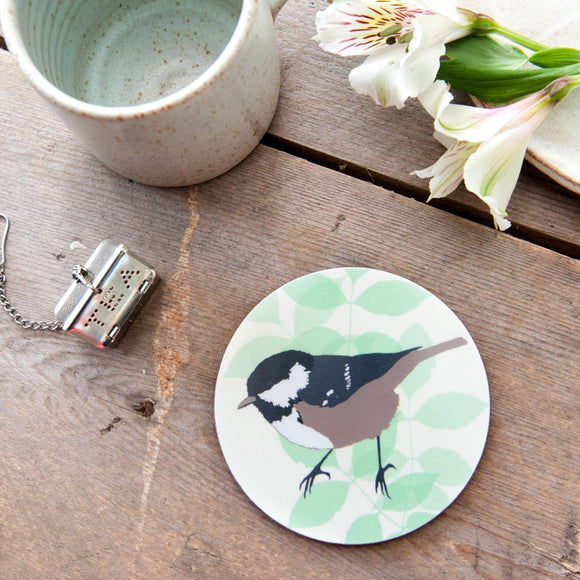 Coal Tit Coaster
