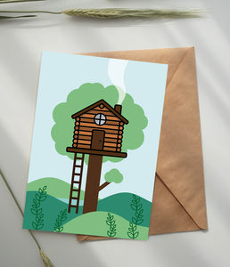 Treehouse Greetings Card A5