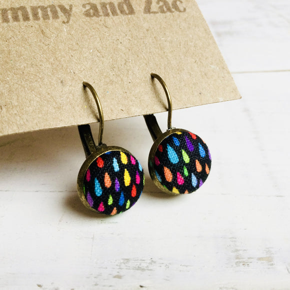 Cotton Fabric Earrings / Colourful  Drop