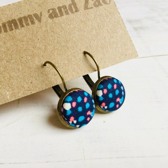 Cotton Earrings / Colourful Dots