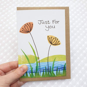 Just For You card - Wild flower meadow