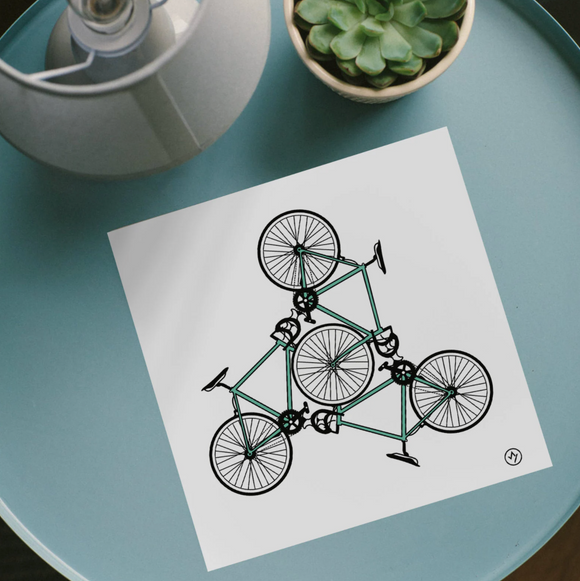 Bike trio 210mm Square Print