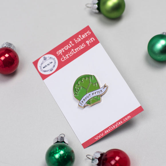 'Sprout Haters' Soft Enamel Pin Badge