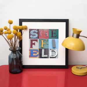 """9 Fragments of Sheffield Typography"" Photo Montage"
