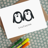 Penguin Soulmates card