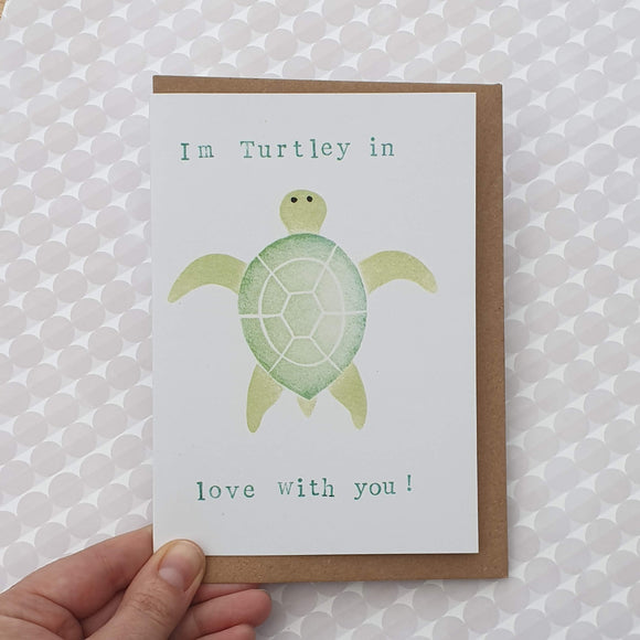Turtley in love with you card