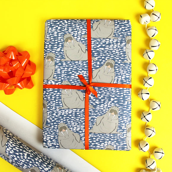 Walrus Gift Wrap - 1 folded sheet